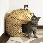 【即納可能】新潟 関川村の猫ちぐら(日本製)