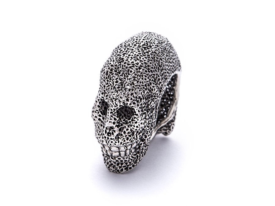 Pyro mesh work  Skull Ring