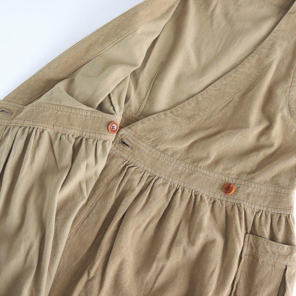 コーデュロイジャンパースカート #BEIGE [192-569]