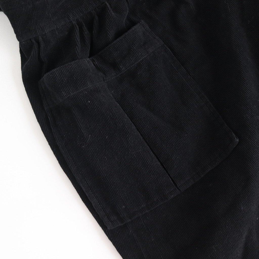 コーデュロイジャンパースカート #BLACK [192-569]