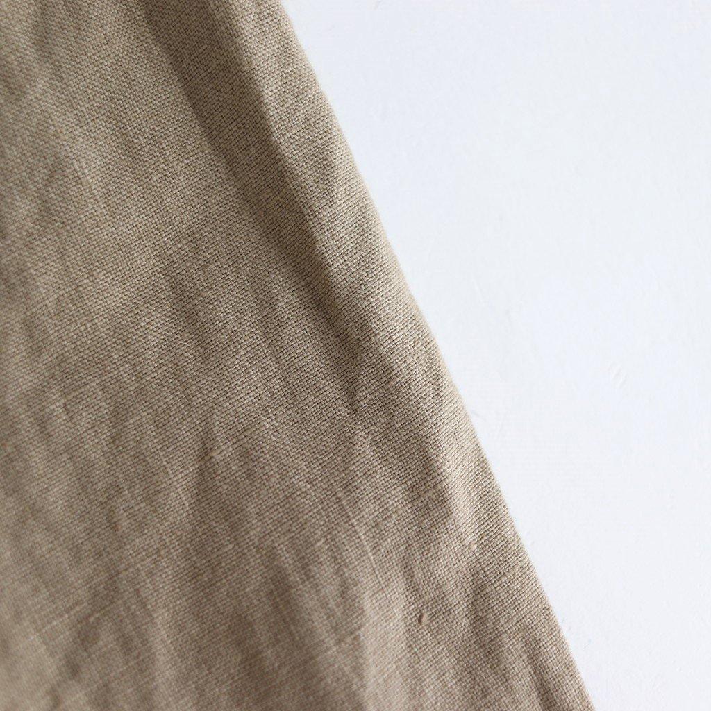 60/-ソフトリネン スキッパーワンピース #OCHER [201-596]