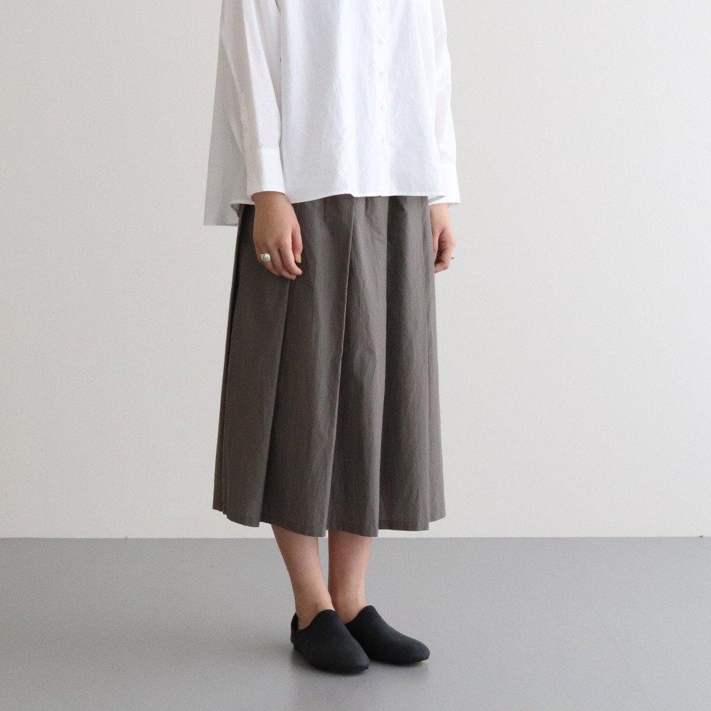 ダブルウェザープリーツスカート #GRAY [SK20506]