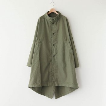 HARVESTY | ハーベスティ - FRENCH WORKER SERGE MILITARY OVER COAT #MILITARY GREEN [A32013]