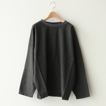HARVESTY | ハーベスティ - PULLOVER COTTON FLANNEL #CHARCOAL [A32009]