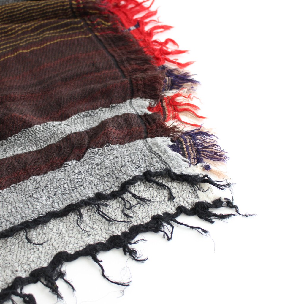 ROOTS SHAWL MIDDLE WOOL70% COTTON30% #C [21A-RSM003]