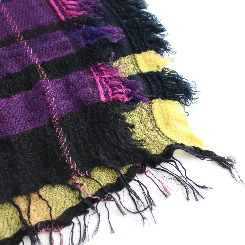 ROOTS SHAWL MIDDLE WOOL70% COTTON30% #D [21A-RSM004]