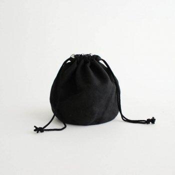 the last flower of the afternoon | ザラストフラワーオブジアフタヌーン - 月明(げつめい)のPERSONAL EFFECTS BAG #ブラック [TLF-121-bg002-E]
