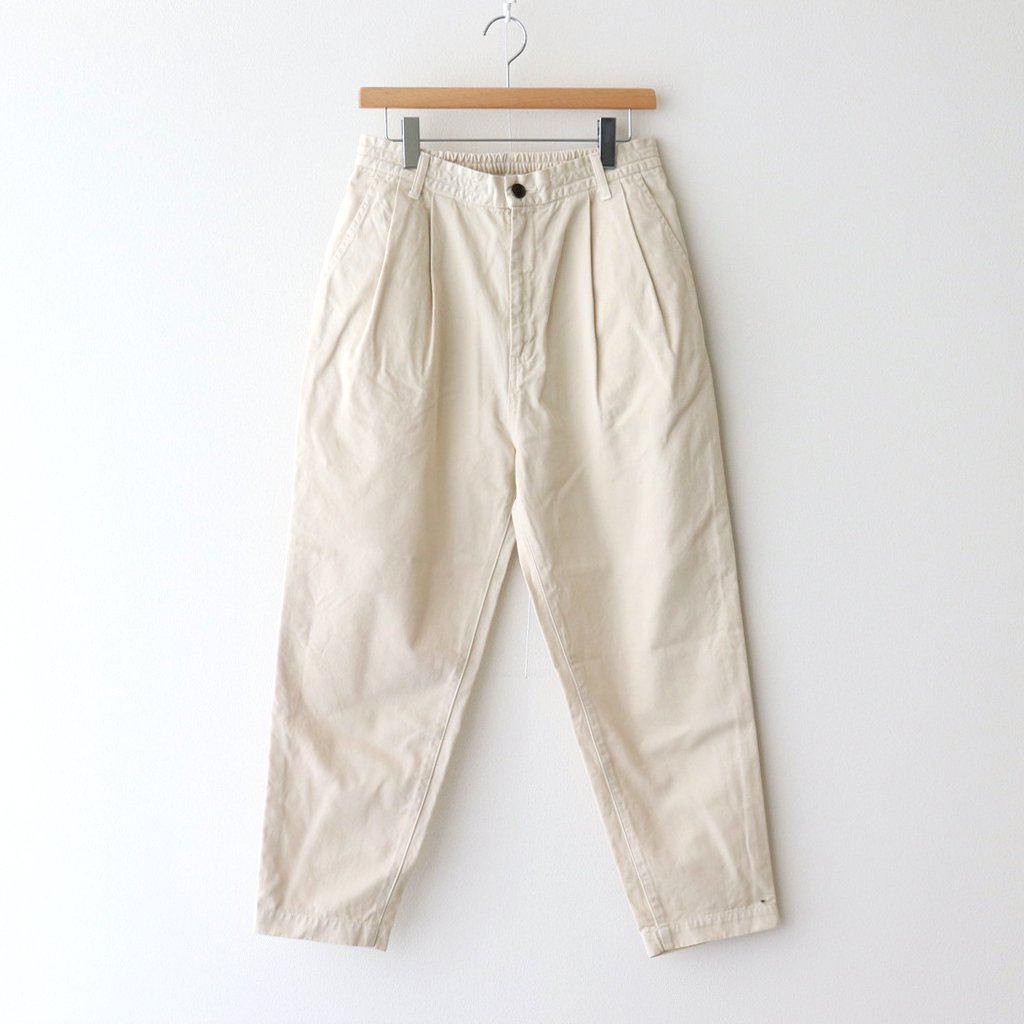 EASY EGG PANTS CHINO CLOTH GARMENT DYED #IVORY [A11913]