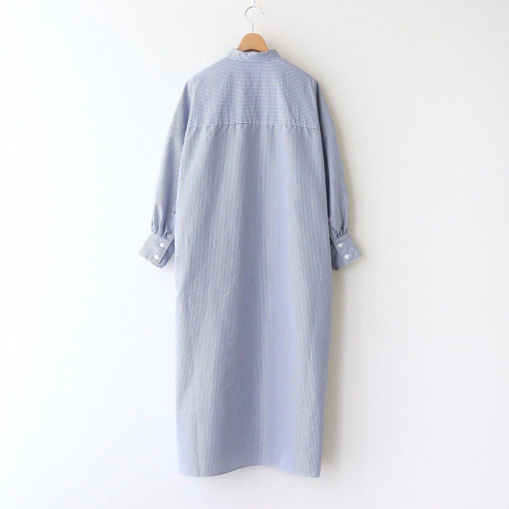 ギャザースリーブシャツドレス #ネイビーピンストライプ [UT210OP019]