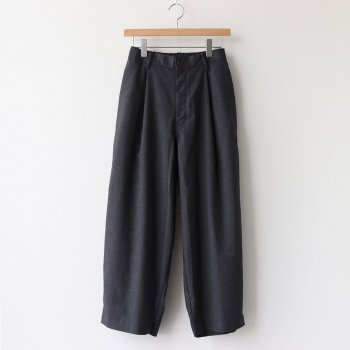 T/R WIDE EGG LONG PANTS #CHARCOAL [A21610] _ HARVESTY | ハーベスティ