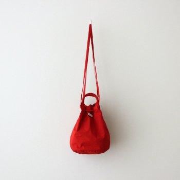 R&D.M.Co- OLDMAN'S TAILOR | オールドマンズテーラー _ GARMENT DYE DRAWSTRING BAG #RED [no.4640]
