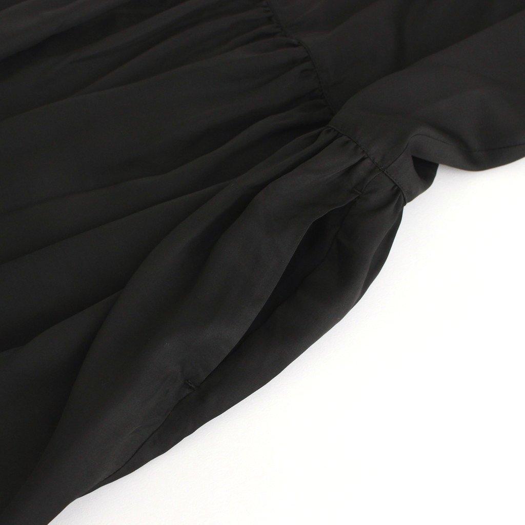 キュプラリヨセルギャザーワンピース #ブラック [OP21202]