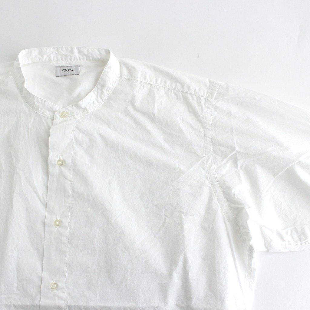 スビンコットン タイプライター バンドカラー BIG シャツ #ホワイト [SHLM-102L]