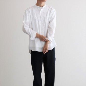 CIOTA | シオタ _ スビンコットン タイプライター バンドカラーシャツ #ホワイト [SHLM-102M]