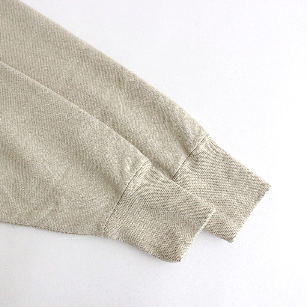 スビンコットン 吊り裏毛 クルーネック スウェットシャツ #ライトベージュ [CSLM-101M]