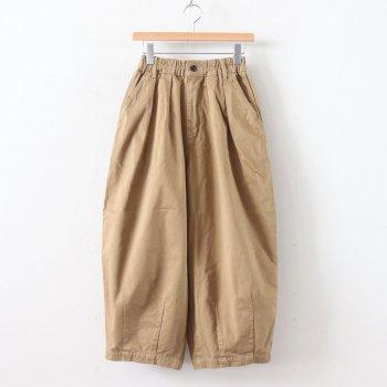 HARVESTY | ハーベスティ _ CIRCUS PANTS CHINO CLOTH GARMENT DYED #KHAKI BEIGE [A11709]