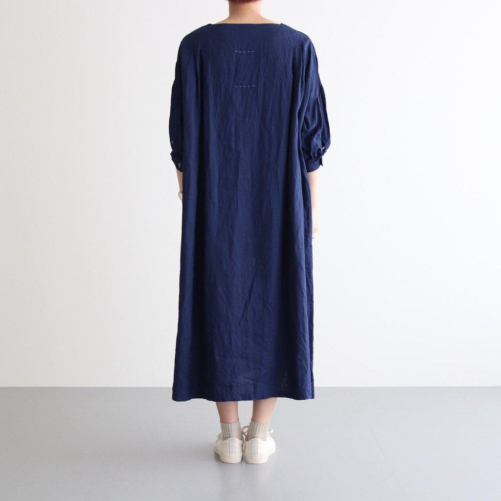 碧落染まる STRING SLEEVE DRESS #インディゴ [TLF-221-op015-f]