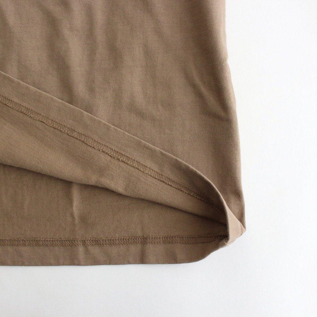 スビンコットン 10/- 度詰め 吊り天竺 ポケット付き ロンT #モカ [CSLM-105M]