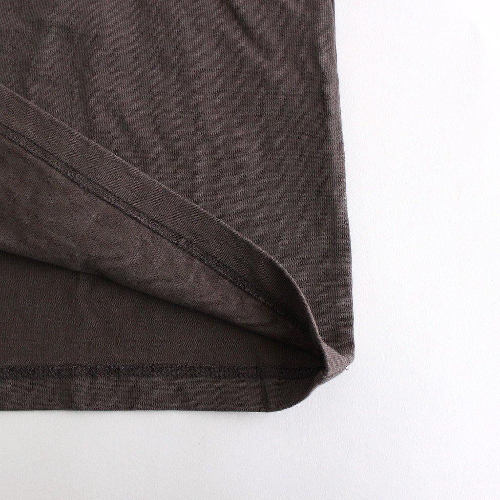 スビンコットン 10/- 度詰め 吊り天竺 ポケット付き ロンT #グレー [CSLM-105M]