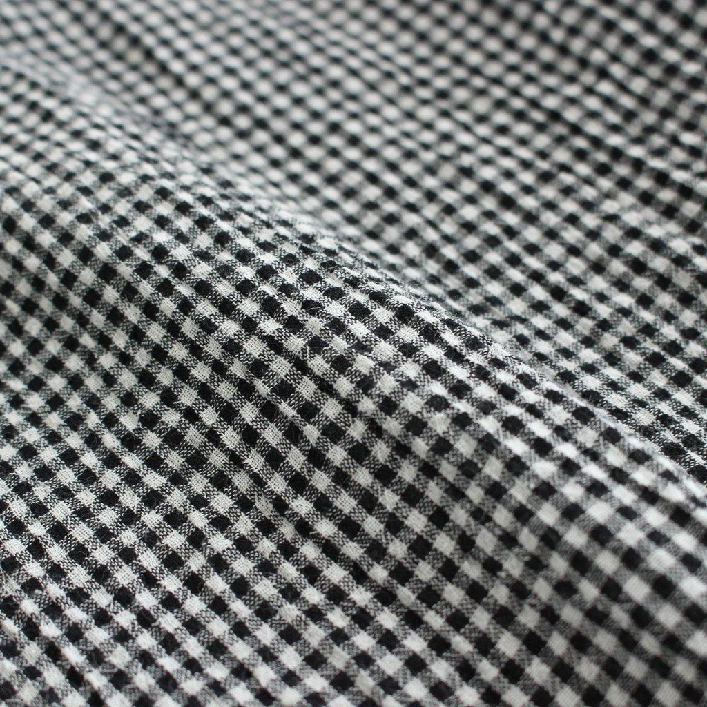 ボイルギンガム7分袖プルオーバー #BLACK [211660]