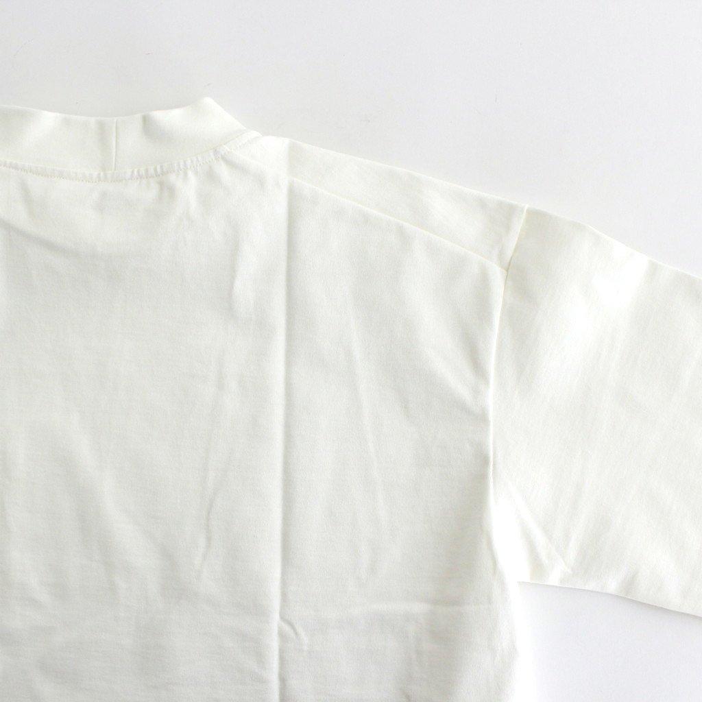 MOCK NECK BOX TEE #OFF WHITE [A52101]
