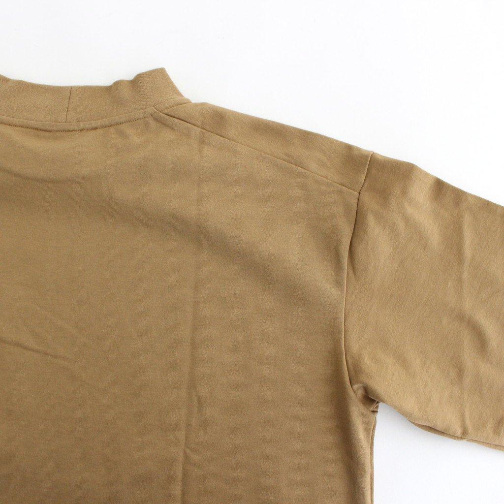 MOCK NECK BOX TEE #KHAKI BEIGE [A52101]