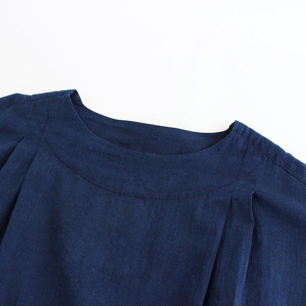 紺青の PRAYER PULLOVER BLOUSE #インディゴ [TLF-221-bl001-j]