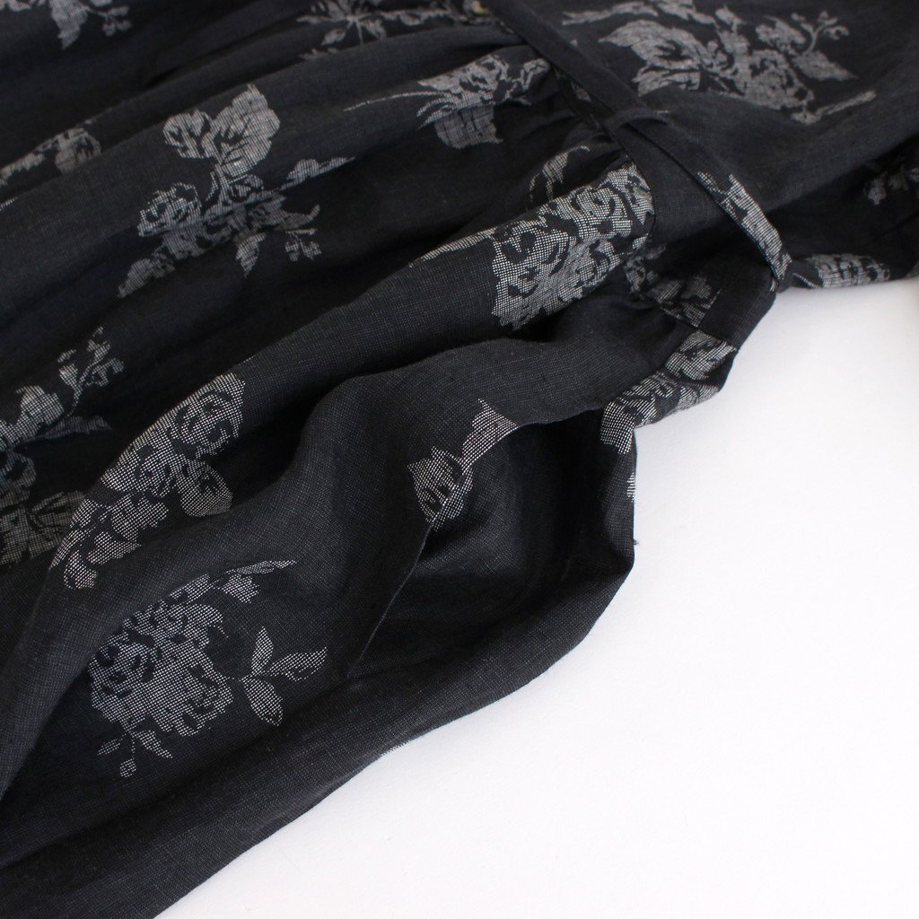 咲き添ふ GATHER SHIRT DRESS #ネイビー [TLF-221-op009-k]