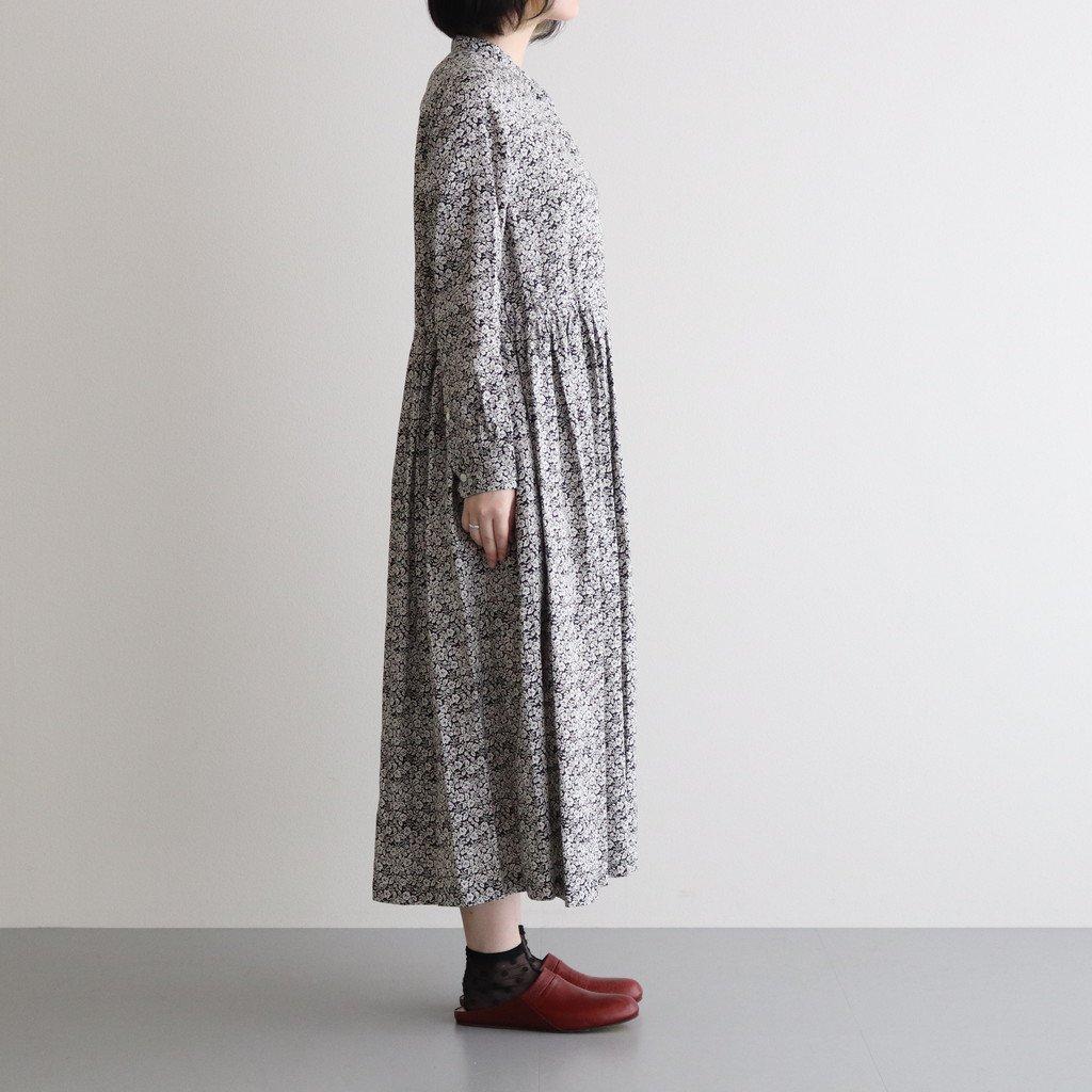 LITTLE WILD BERRY LINEN FRONT OPEN DRESS #BLACK [no.5087]