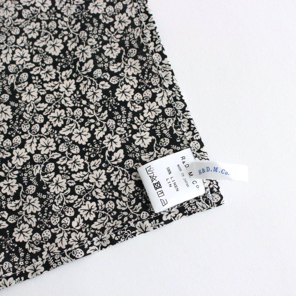 LITTLE WILD BERRY LINEN KITCHEN CLOTH #BLACK [no.5098]