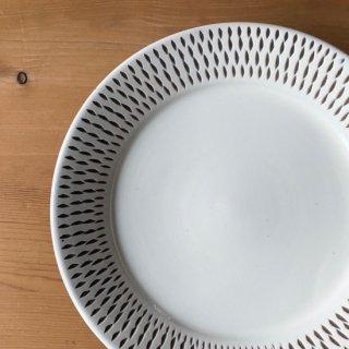 小石原焼 カネハ窯 5.5寸洋平皿飛び鉋 Φ16.5cm