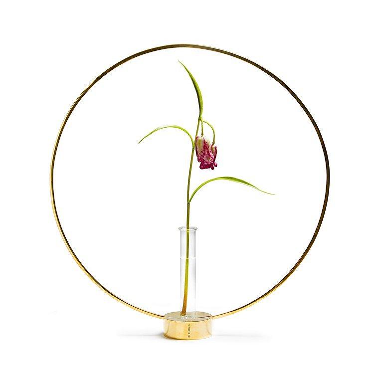 KLONG Gloria flower vase/brass