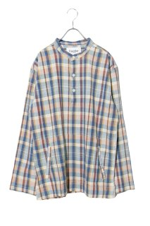 <img class='new_mark_img1' src='https://img.shop-pro.jp/img/new/icons16.gif' style='border:none;display:inline;margin:0px;padding:0px;width:auto;' />Corridor - Teal Madras Popover Shirt -