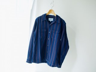 Corridor Indigo Brown Stripe Work Shirt
