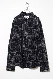 Corridor Black Twill Bandana Flannel