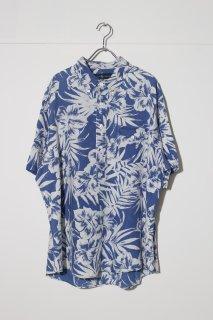 UPSIZED FIT - Half Sleeve Pullover B.D Linen Shirt