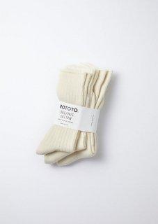 ROTOTO - Organic Daily 3 Pack Crew Socks -