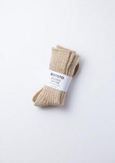 ROTOTO - Organic Daily 3 Pack Crew Socks