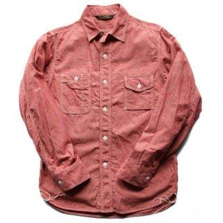 TOUGHNESS W-413CLレッドシャンブレイワークシャツ