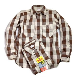 WAREHOUSE LOT3104 CHECK FLANNEL SHIRT ( A-1BROWN )