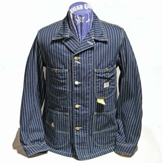 SUGAR CANE 9oz WABASH STRIPE WORK COAT(SC14372-421A)
