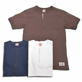 TOUGHKNIT W-3005 FLY FRONT HENLEY NECK SS T-SHIRT