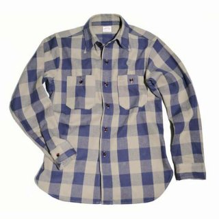 WAREHOUSE LOT3104 CHECK FLANNEL SHIRT ( A-3Navy x Grey )