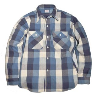 WAREHOUSE LOT3104 CHECK FLANNEL SHIRT ( C-2 Blue )