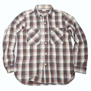 WAREHOUSE LOT3104 CHECK FLANNEL SHIRT ( D-1 Charcoal )
