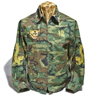 """Tailor TOYO・ Late 1960s Style Woodland Camouflage Vietnam Jacket """"1st RECON H&C CO.""""(TT14691-198)"""