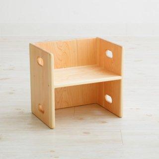 [8ヶ月-]ヒノキの変化いす 〈子ども家具〉なかよしライブラリー