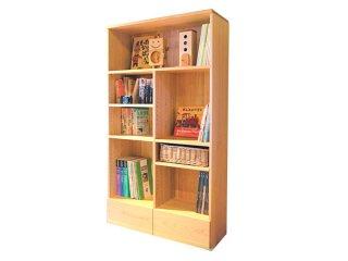 【家族みんなの本を収納できます】家族の本棚〈子ども家具〉なかよしライブラリー