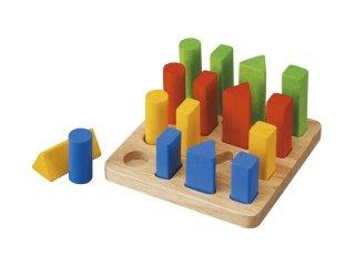 [3歳-]幾何学ペグボード〈ペグさし・木のおもちゃ〉PLANTOYS