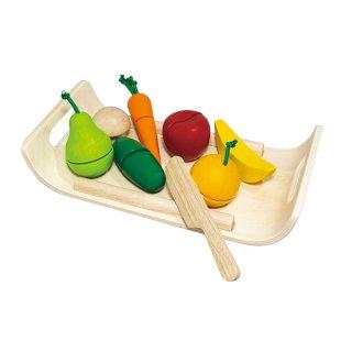 [3歳-]詰め合わせフルーツ&ベジタブル〈おままごと・ごっこ遊び〉PLANTOYS